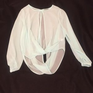 Topshop silk blouse